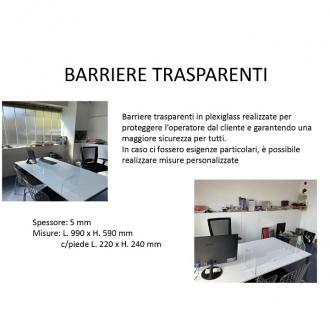 COMPLEMENTI DA ARREDO ,BARRIERA TRASPARENTE MIS.MM.990X590H