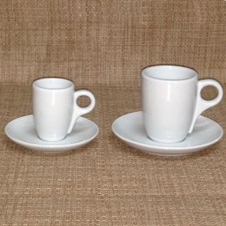 PORCELLANE ,TAZZA CAFFE' HIGH BIANCO S/PIATTO