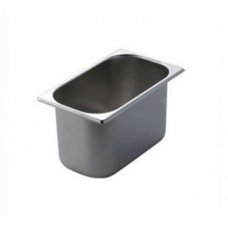 ACCESSORI GELATERIA ,VASCHETTA GELATO INOX MM.260X158 H.150