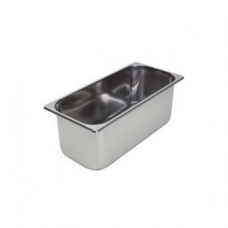 ACCESSORI GELATERIA ,VASCHETTA GELATO INOX MM.360X165 H.120